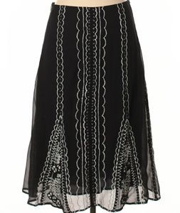 Odille silk embroidered skirt sz 4